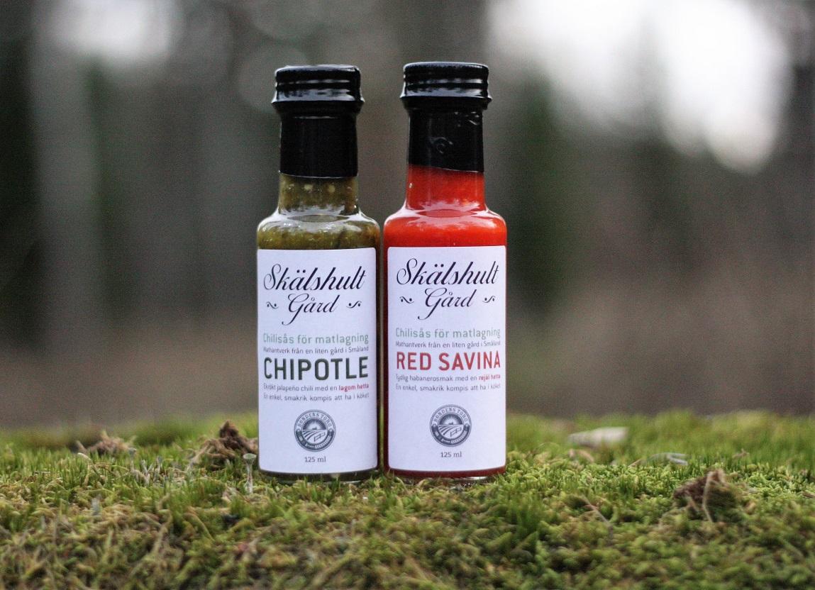 Vill du bli återförsäljare till Skälshult Gårds chilisåser?