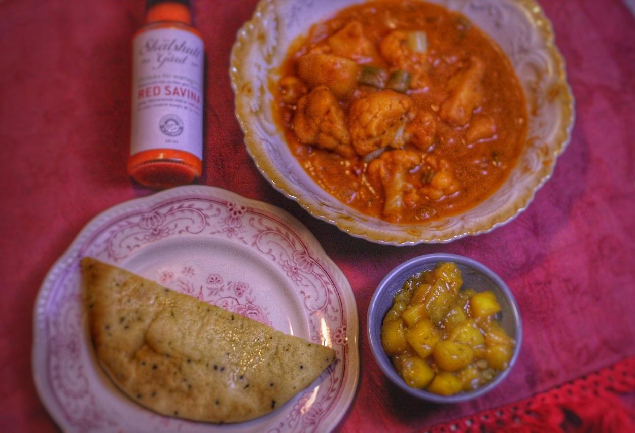 Aloo gobi – indisk vegetarisk gryta med Red Savina