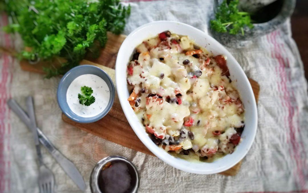 Ugnsbakad tex mex-potatis med chiliyoghurt