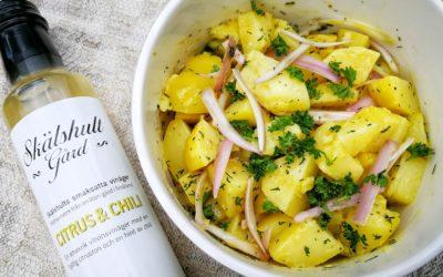 Fransk potatissallad med smaksatt vinäger Citrus&Chili